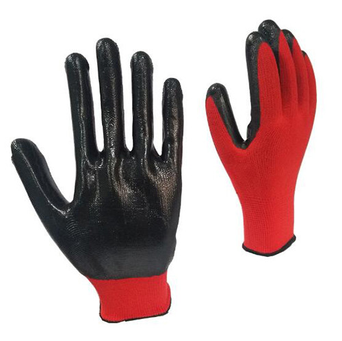 Nitrile Half Coated Nylon Safety Protection Work Gloves
